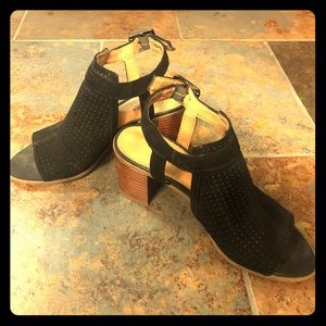 Franco Sarto Suede Slingback Sandals